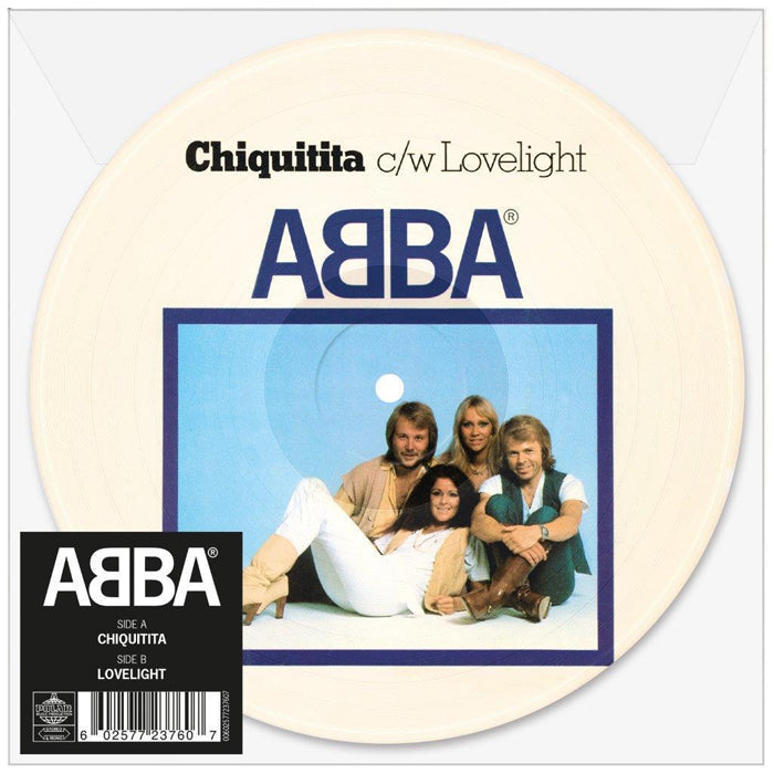 "ABBA ‎– Chiquitita c/w Lovelight 7"" Picture Disc Vinyl Record"