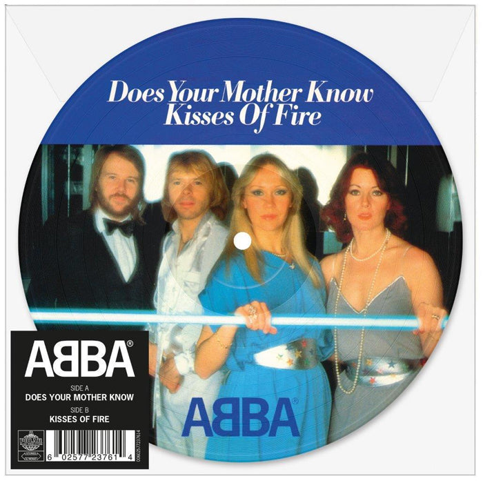 "ABBA -  Does Your Mother Know Limited 7"" Picture Disc Vinyl Record"