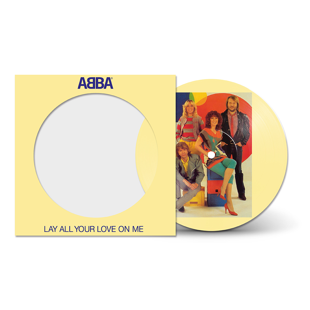"ABBA - Lay All Your Love On Me Picture Disc 7"" Vinyl Record"