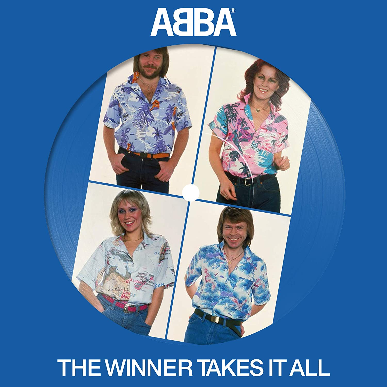 "ABBA - Winner Takes It All Picture Disc 7"" Vinyl Record"
