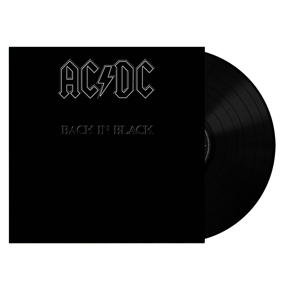 AC/DC ‎– Back In Black Embossed Vinyl Record Album