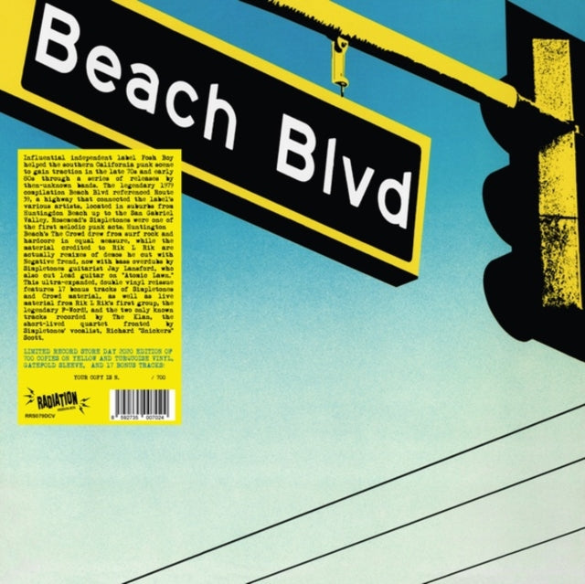 Various Artists - Beach Blvd (RSD 2020 Drop Two) 2LP Yellow/Turquoise Colour Vinyl Record Album