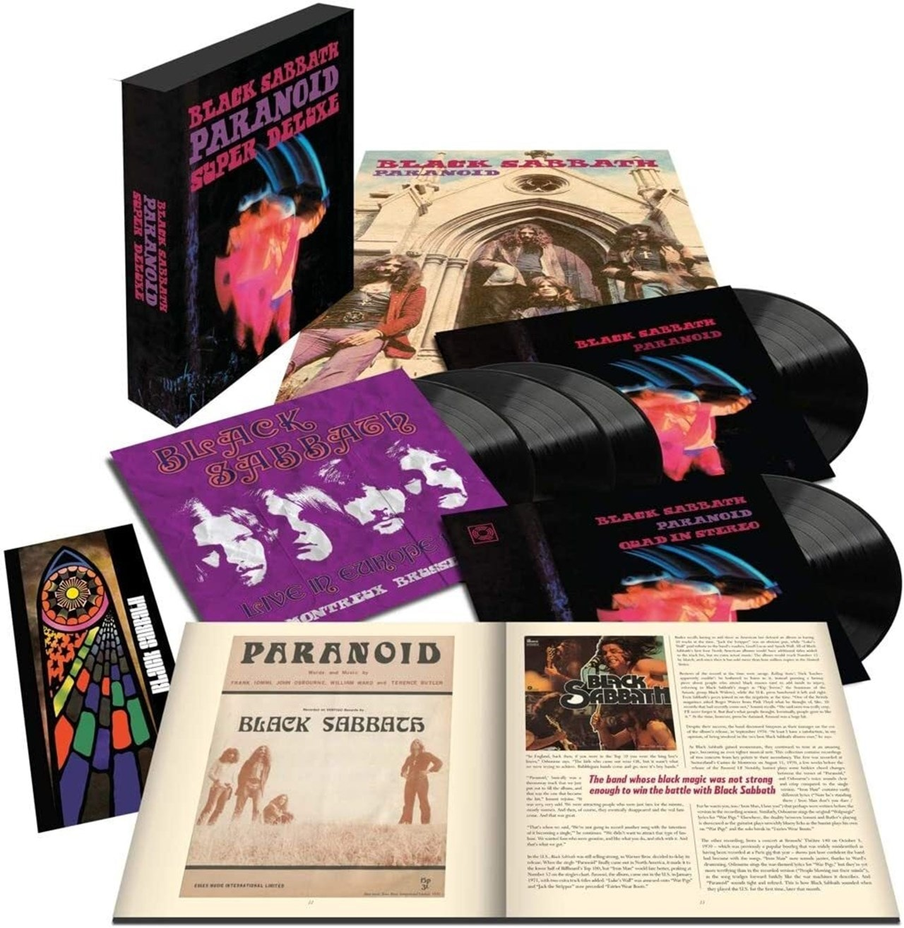Black Sabbath	- Paranoid (50th Anniversary Edition) 5LP Super Deluxe Box Set