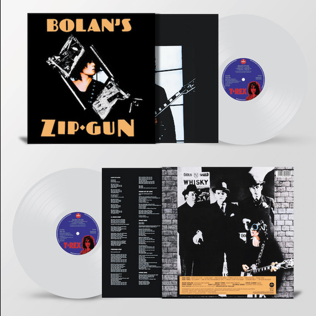 T.Rex - Bolan's Zip Gun 180g Clear Colour Vinyl Record Album
