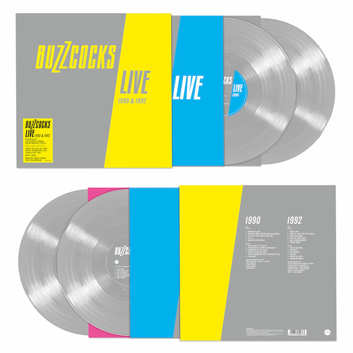 Buzzcocks - Live 1990-1992 2LP Silver Colour Vinyl Record, Pre-order, X-Records
