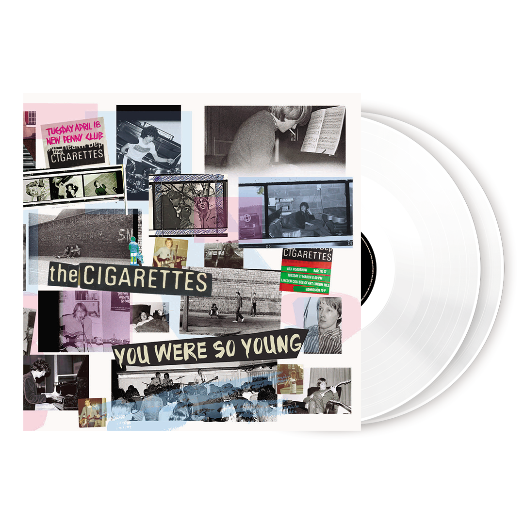 The Cigarettes - You Were So Young Limited Edition 2LP White Colour Vinyl Record Album