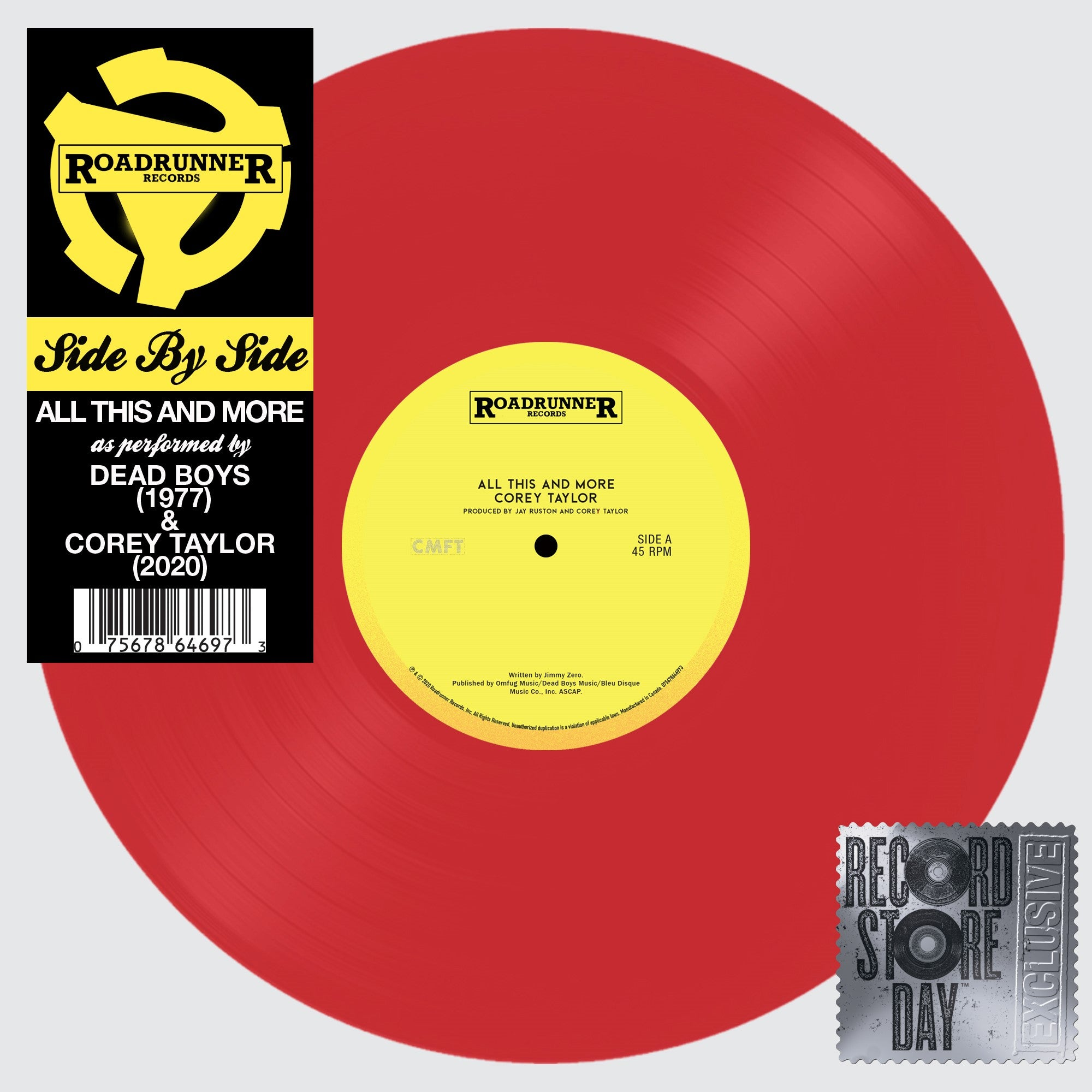 "Corey Taylor & Dead Boys - All This And More (RSD 2020 Black Friday) 12"" Colour Vinyl Record"