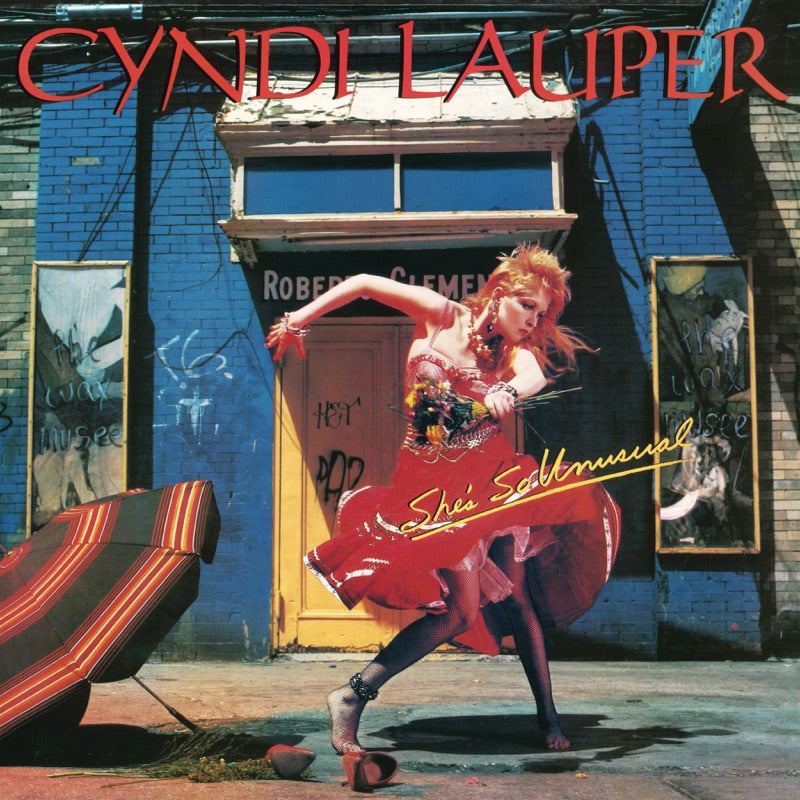 Cyndi Lauper - She's So Unusual (National Album Day) Red Colour Vinyl Record Album