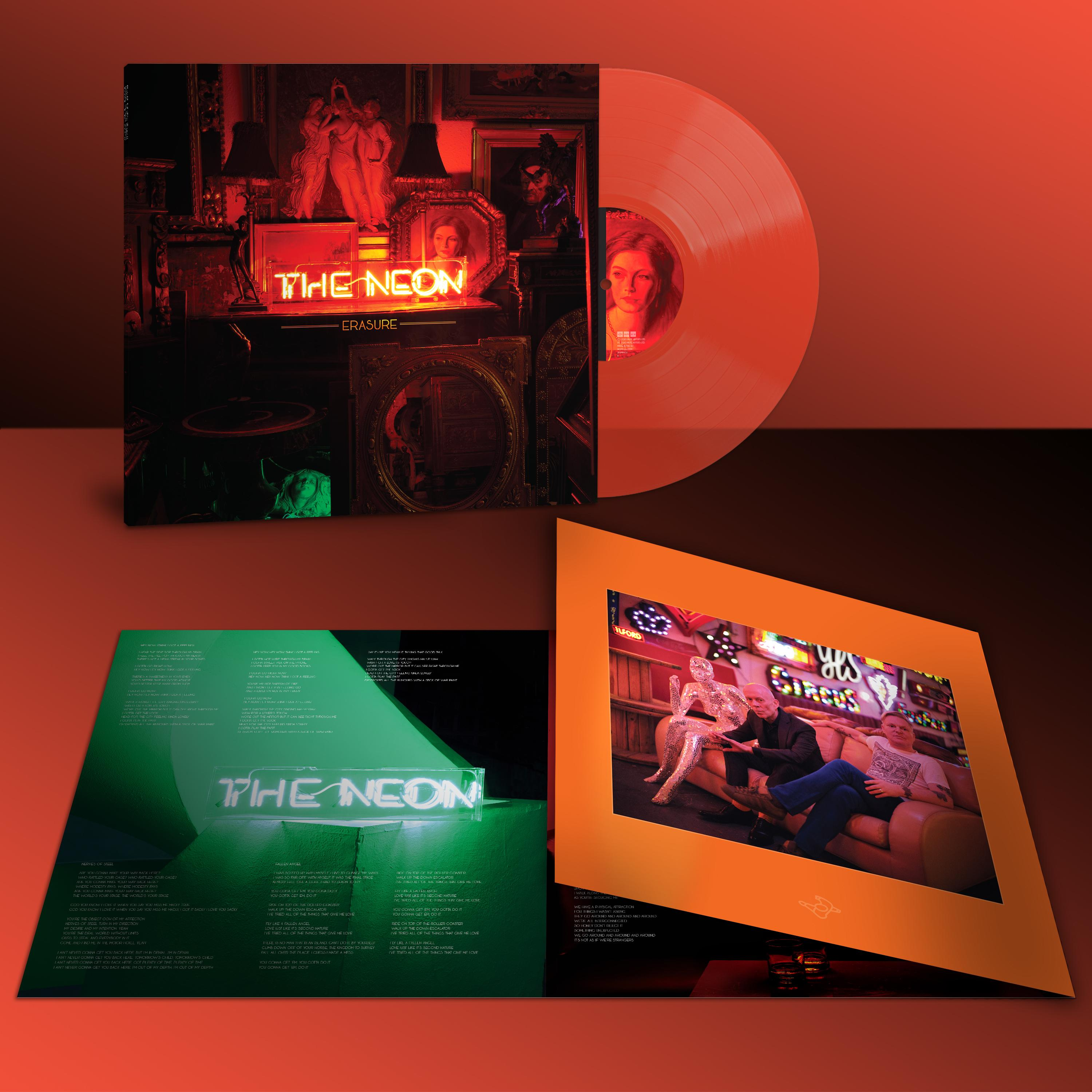 Erasure - The Neon Limited Edition Orange Colour Vinyl Record Album