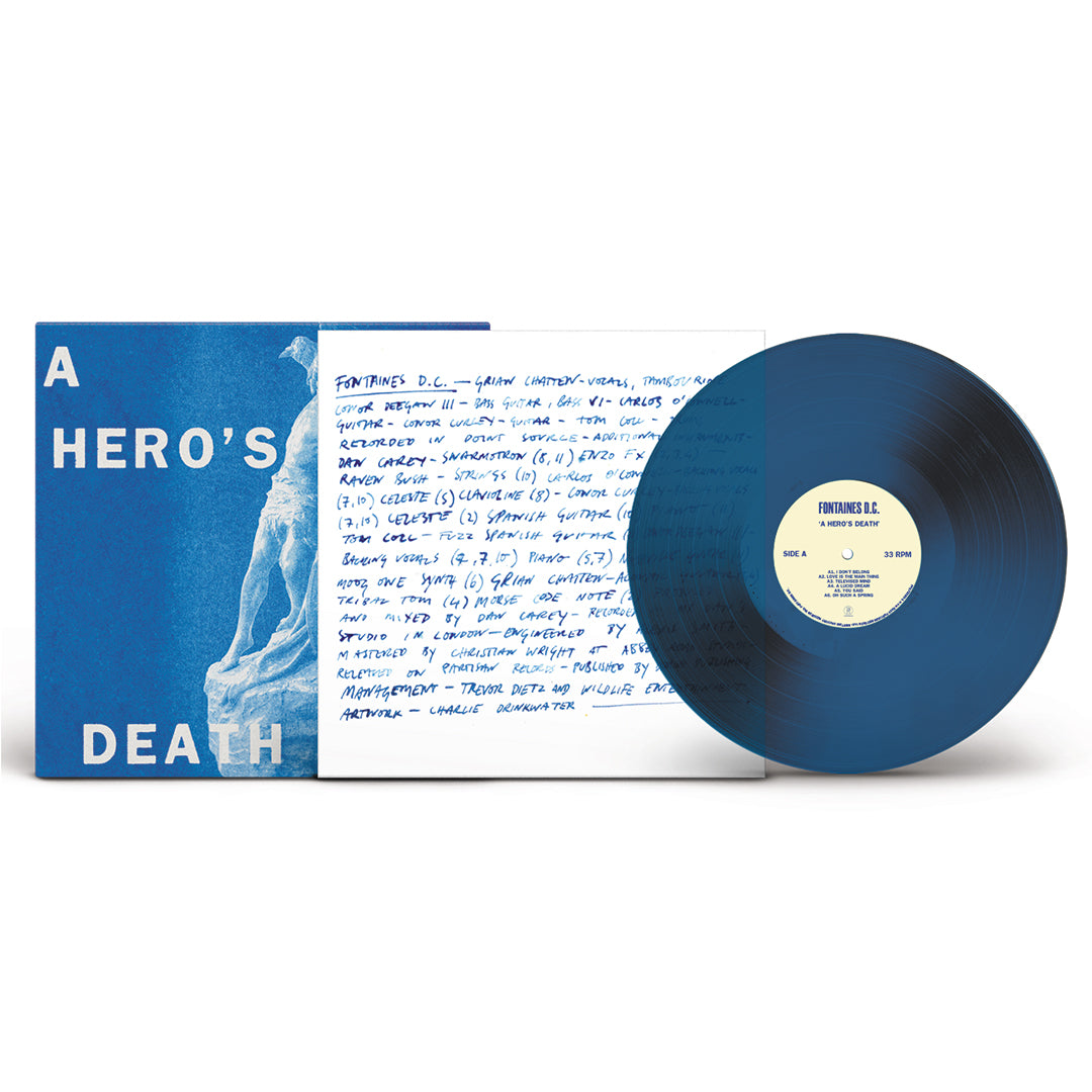 Fontaines D.C. - A Hero's Death Limited Edition Blue Colour Vinyl Record Album