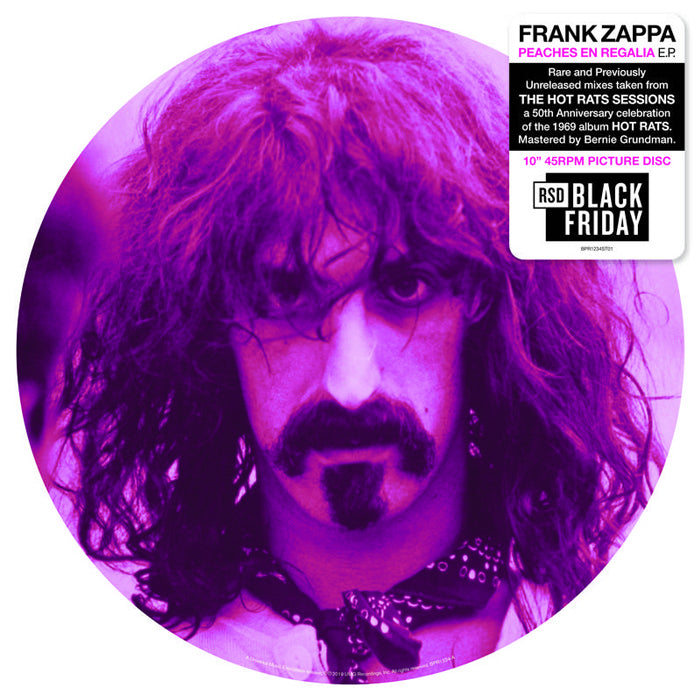 "Frank Zappa - Peaches En Regalia / Little Umbrellas (RSD Black Friday) 10"" Picture Disc Vinyl Record"