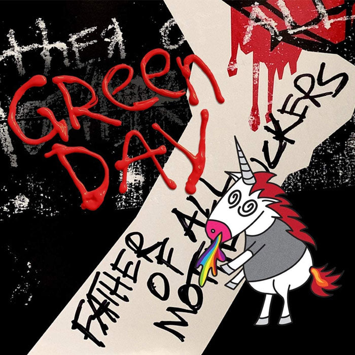 Green Day - Father Of All Limited Edition Red & White Cloudy Colour Vinyl Record Album