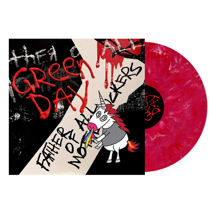 Green Day - Father Of All Limited Edition Red & White Ghostly Colour Vinyl Record Album