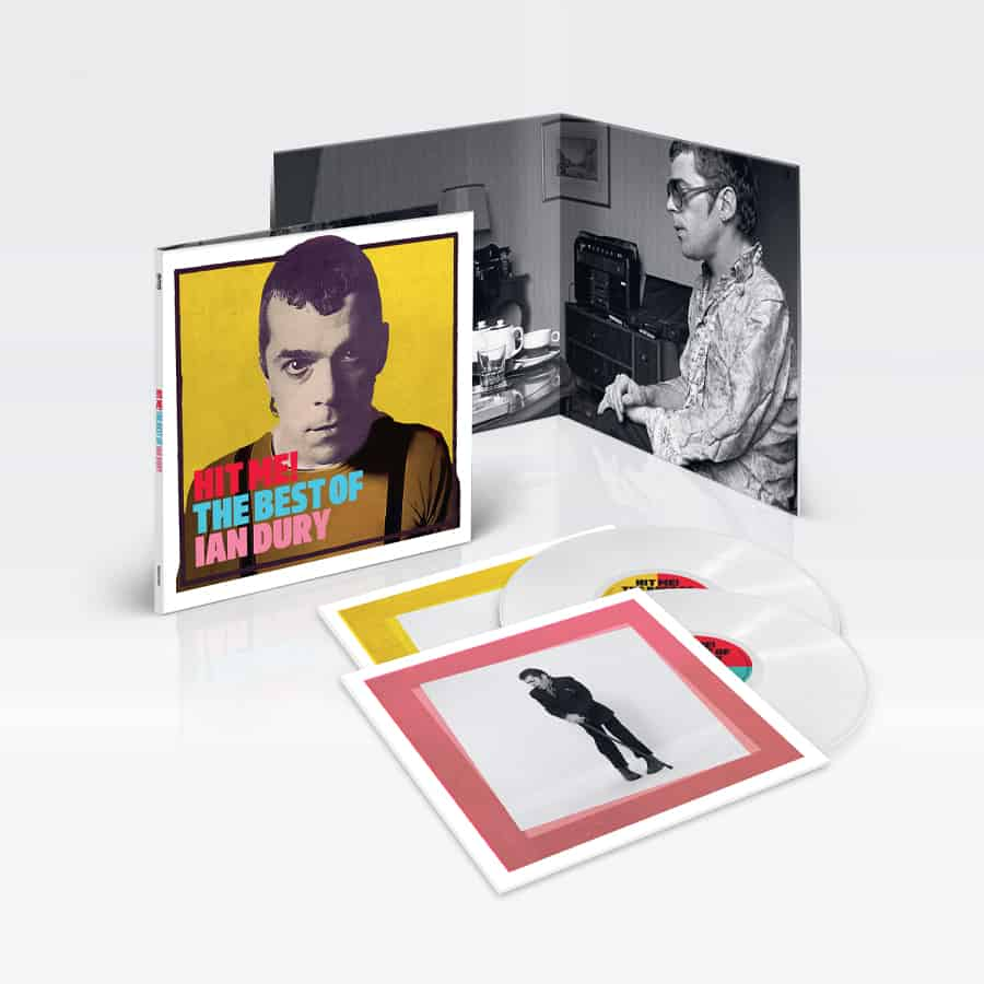 Ian Dury - Hit Me! The Best Of 2LP White Colour Vinyl Record