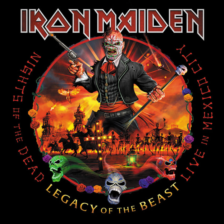Iron Maiden - Nights of the Dead, Legacy of the Beast: Live in Mexico City 180g 3LP Vinyl Record Album