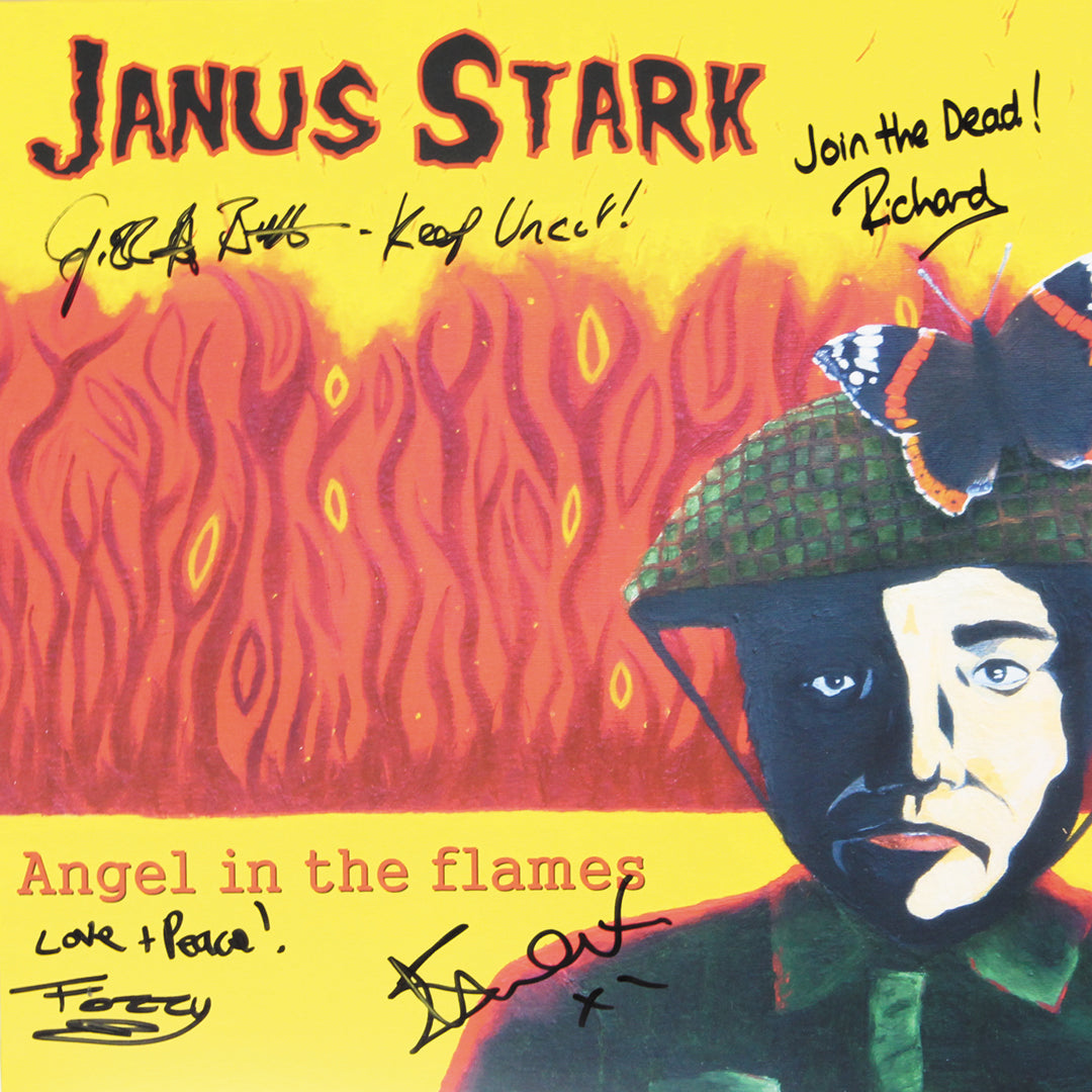 Janus Stark - Angel in The Flames Red Colour Signed Vinyl Record Album