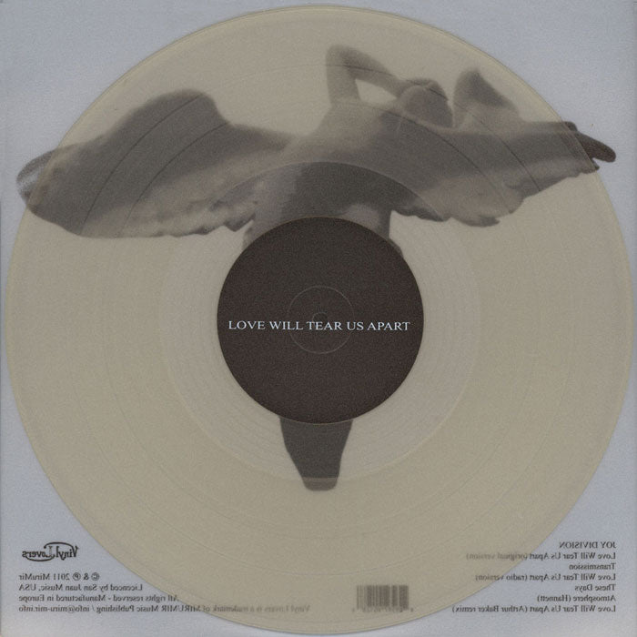 "Joy Division - Love Will Tear Us Apart Clear Colour 12"" Vinyl Record"