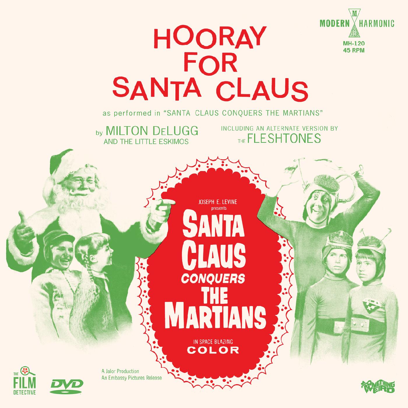 "Milton DeLugg & The Little Eskimo - Hooray For Santa Claus (RSD 2020 Black Friday) 7"" Colour Vinyl Record + DVD"