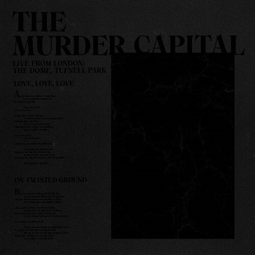 "The Murder Capital - Live from London: The Dome, Tufnell Park (RSD 2020 Drop One) 12"" Vinyl Record"