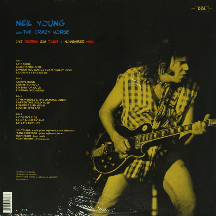 Neil Young & Crazy Horse ‎– Live During USA Tour, 1986 180g Vinyl Record