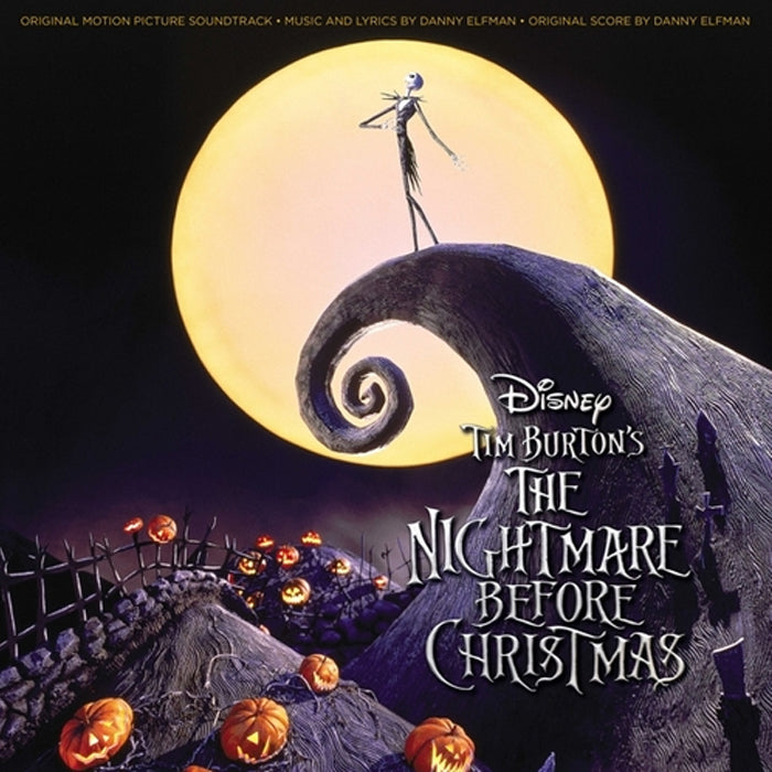 The Nightmare Before Christmas Soundtrack 2LP Pumpkin Orange Coloured Vinyl Record