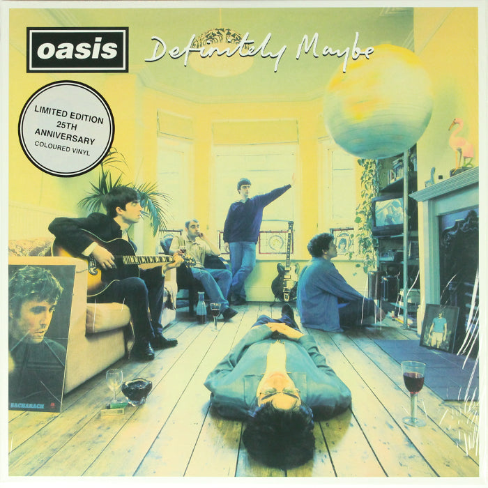 Oasis - Definitely Maybe Remastered 25th Anniversary Silver Colour 2LP Vinyl Record Album, Vinyl, X-Records