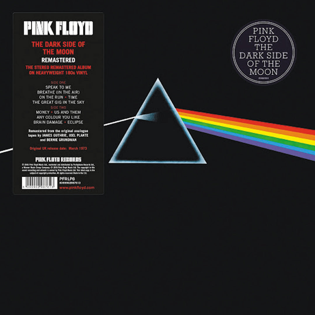Pink Floyd ‎– The Dark Side Of The Moon 180g Vinyl Record Album