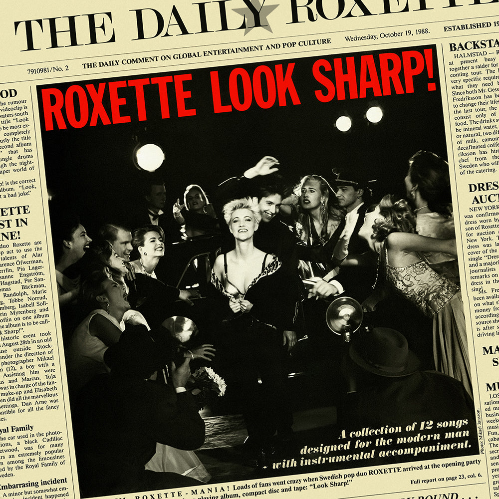 Roxette - Look Sharp (National Album Day) 180g Clear Colour Vinyl Record Album