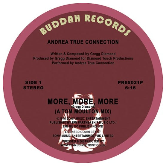 Andrea True Connection ‎– More, More, More RSD 2019 Limited Edition Vinyl Record