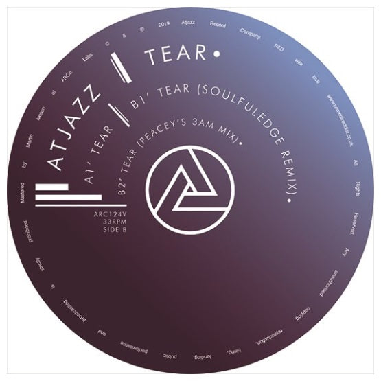Atjazz ‎– Tear RSD 2019 Limited Edition Vinyl Record, Vinyl, X-Records