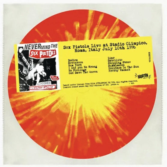 Sex Pistols ‎– Live At Stadio Olimpico Italy 1996 RSD 2019 Limited Colour Vinyl Record