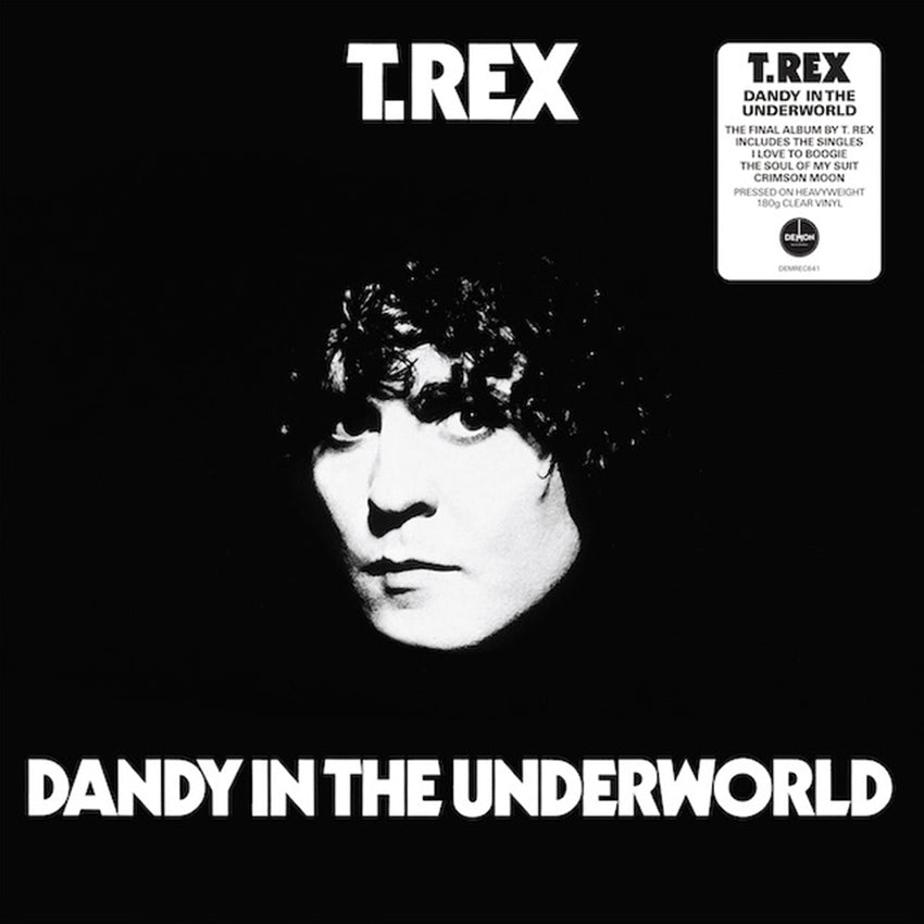 T.Rex - Dandy In The Underworld 180g Clear Colour Vinyl Record Album