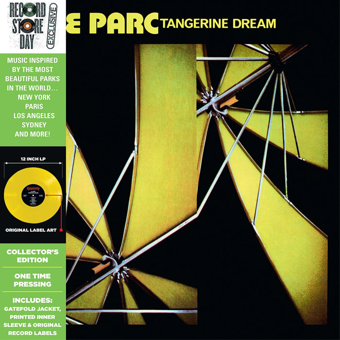 Tangerine Dream ‎– Le Parc Limited Edition RSD Yellow Colour Vinyl Record
