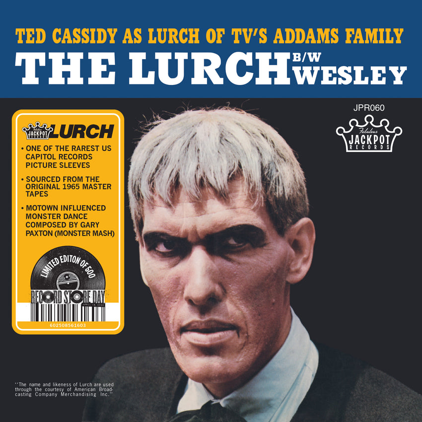 "Ted Cassidy - The Lurch (RSD 2020 Drop One) 7"" Vinyl Record"
