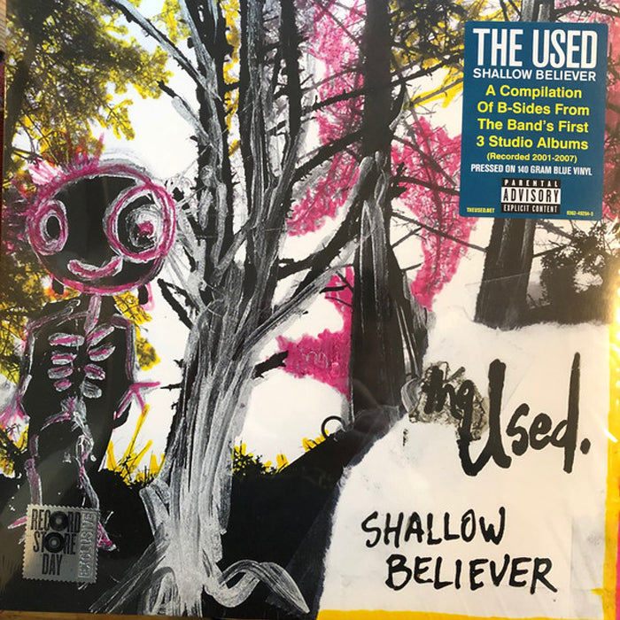 The Used ‎– Shallow Believer Limited Edition RSD Blue Colour Vinyl Record Album, Vinyl, X-Records