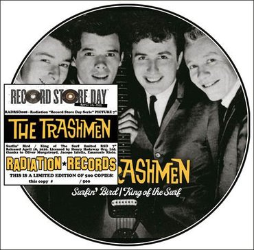 "The Trashmen - Surfin' Bird / King of the Surf (RSD 2020 Drop 2) 7"" Picture Disc Vinyl Record"