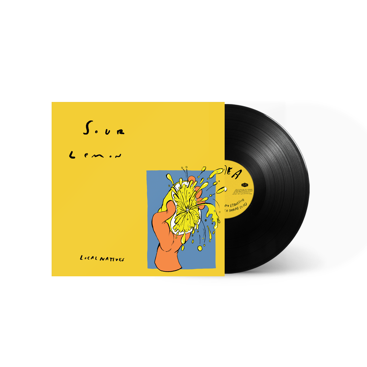 "Local Natives - Sour Lemon Limited Edition 10"" Vinyl Record EP"