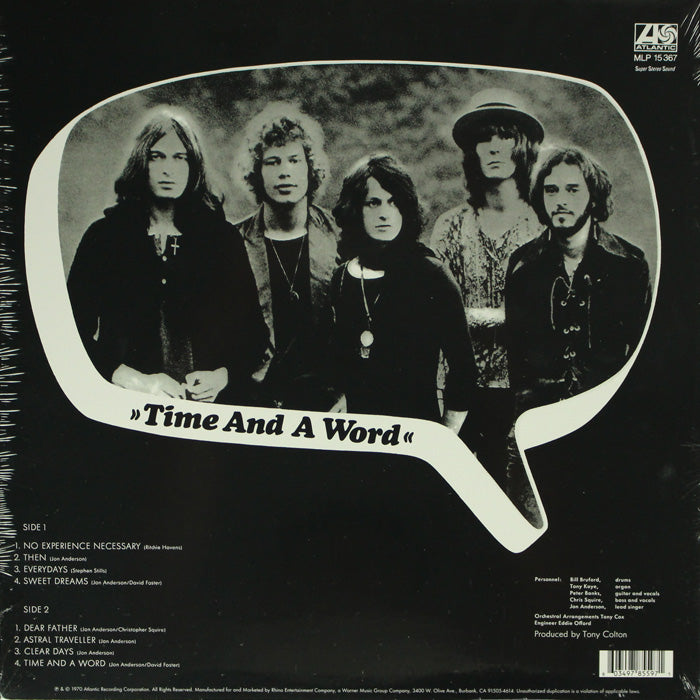 Yes ‎– Time And A Word Limited Edition RSD Vinyl Record