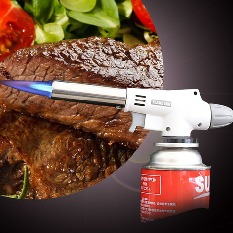 Fully Automatic Electronic Flame Gun Butane Burner Gas Adapter Torch - The Gadget Scene