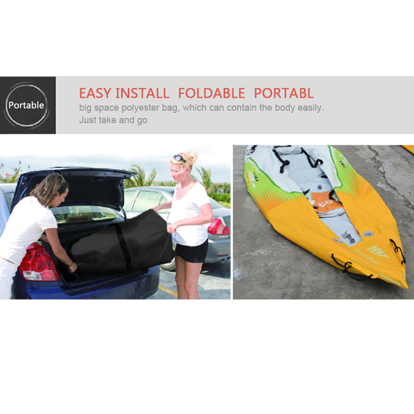 Aqua Marina Inflatable PVC Sport Fishing kayak Canoe Set - The Gadget Scene
