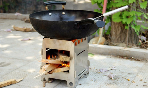 Foldable Camping Stainless Steel Wood Stove - The Gadget Scene