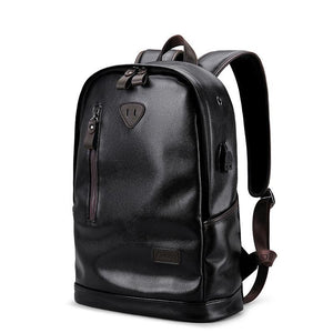 Stylish Backpack, Water Resistant and PU Leather