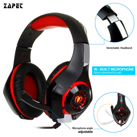 3.5mm Wired Gaming Headphone Headset With Microphone - The Gadget Scene
