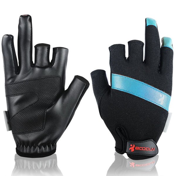Breathable PU Leather Sport Fishing Gloves - The Gadget Scene
