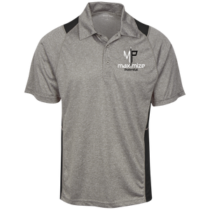 Moisture Wicking Polo w/white & black logo