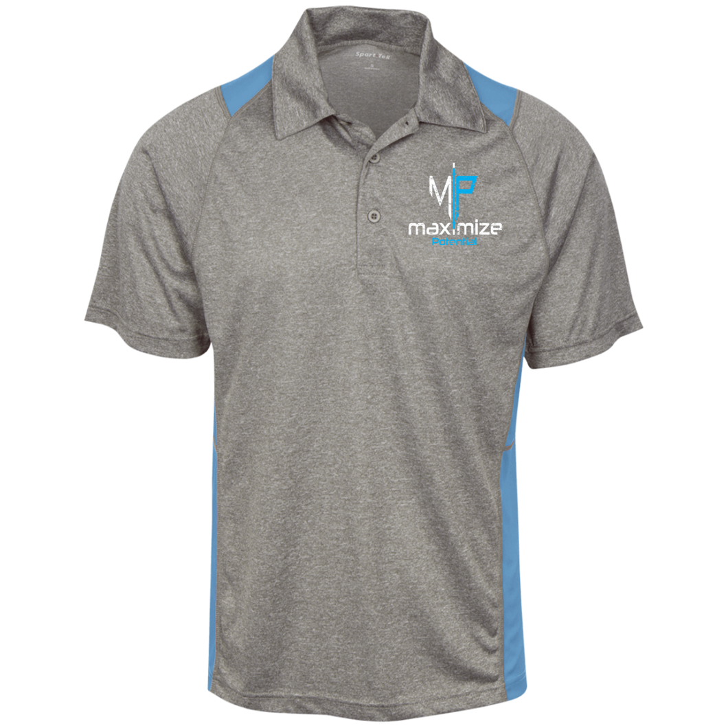 Moisture Wicking Polo (White & Blue Logo)