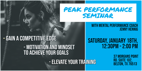 Peak Performance Seminar - General Admission
