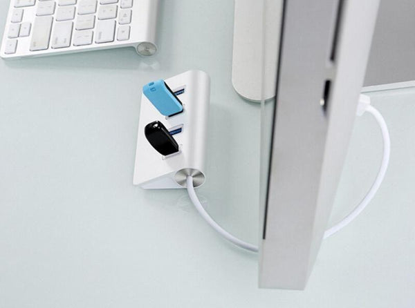High Speed 4 Port USB 2.0 Hub USB Port  for Apple Macbook Air Laptop PC Tablet