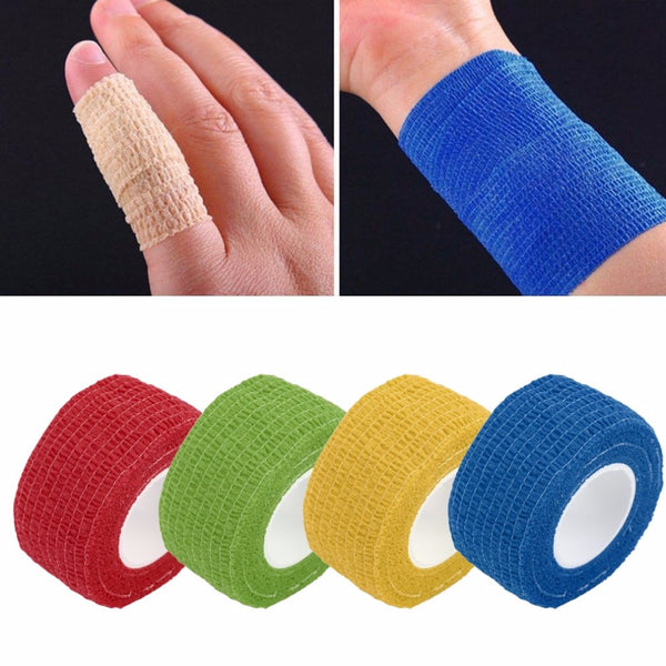 New Arrival 2.5cm*4.5m Self-Adhering Bandage Wraps Elastic Adhesive First Aid Tape Stretch Braces & Supports