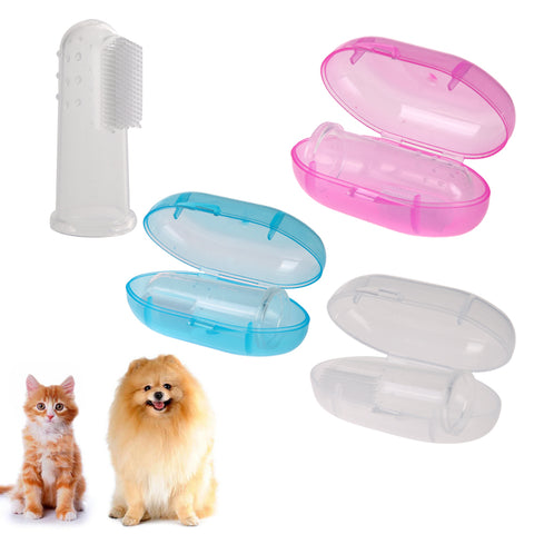 Finger Toothbrush Dog Brush Breath Double Head Teeth Care Dog Cat Cleaning Toothbrushes For Dogs Pet Supplies